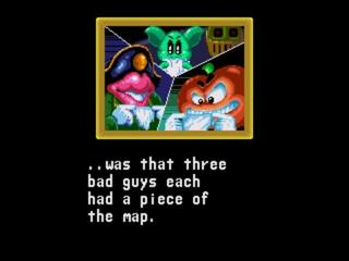 Three bad guys had the map